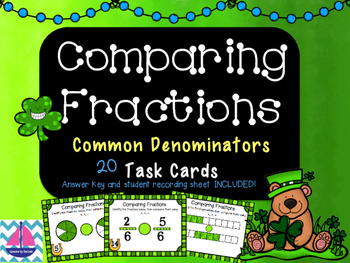 Comparing Fractions Task Cards [common denominators]