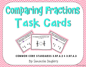 Comparing Fractions Task Cards with Digital Version for Go