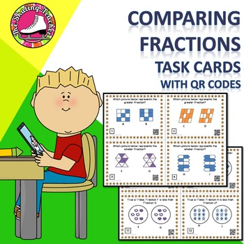 Comparing Fractions Task Cards with QR Codes