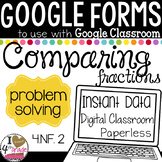 Google Form Comparing Fractions Test