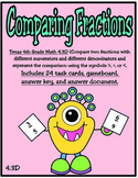 Comparing Fractions: Texas 4th Grade Math (TEKS 4.3D) STAAR Practice