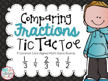 Comparing Fractions Tic Tac Toe Game Boards
