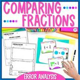 Comparing Fractions Task Cards Error Analysis   Print & Digital