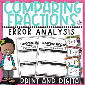 Comparing Fractions Task Cards True or False Prove It