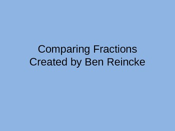Comparing Fractions TurningPoint Clicker Presentation