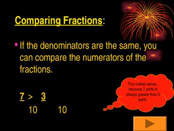 Comparing Fractions Tutorial & Quiz