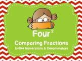 Comparing Fractions Unlike Denominators & Numerators