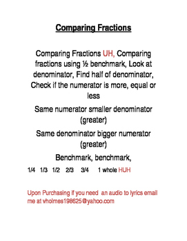 Comparing Fractions Using 1/2 Benchmark