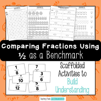 Comparing Fractions Using Benchmark Fractions - Using 1/2 as a Benchmark
