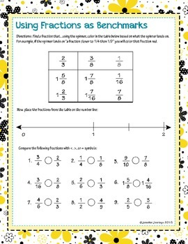 Estimating Fractions Using Benchmarks Worksheet Worksheets for all ...