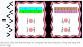 Comparing Fractions Using Fraction Bars Digital Practice