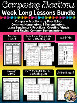 Comparing Fractions Week Long Lessons