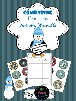 Comparing Fractions Winter Themed Bundle