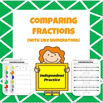 Comparing Fractions With Like Numerators