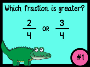 Comparing Fractions (With Like-Numerators or Like-Denominators)
