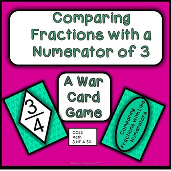 Comparing Fractions With a Numerator of 3 - Game of War