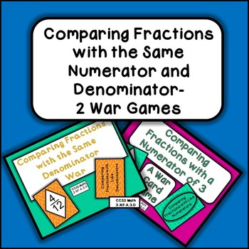 Comparing Fractions With the Same Numerator and Denominator Bundle-2 Activities