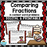 Comparing Fractions Word Problem Task Cards