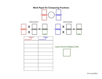 Comparing Fractions (Work Paper)