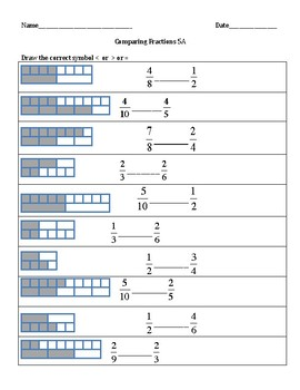 Comparing Fractions Workbook