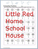 Comparing Fractions Pie Chart Worksheet with Answer Key for 4th,5th,6th Grades
