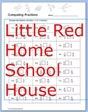 Comparing Fractions Worksheet with Answer Key for 4th,5th,