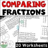 Comparing Fractions Worksheets No Prep TEKS 4.3D, CCSS.4.NF.A.2