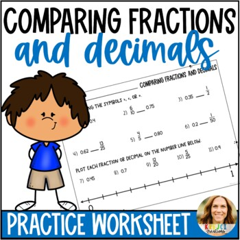 Comparing Fractions and Decimals Worksheet