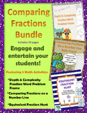 Comparing Fractions and Equivalent Fractions Activity Bundle