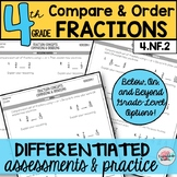 Comparing Fractions and Ordering Fractions Differentiated Assessments Practice