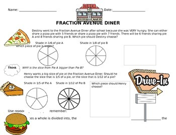 Comparing Fractions at the Fraction Avenue Diner