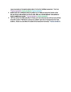 Comparing Fractions lesson plan 3.NF.3d- includes worksheet!