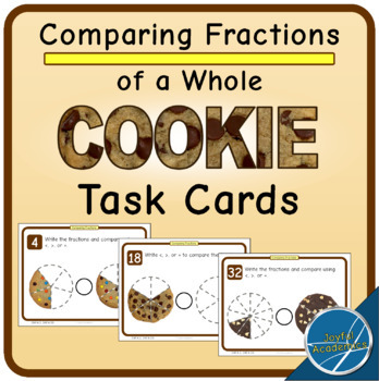 Comparing Fractions of a Cookie Task Cards