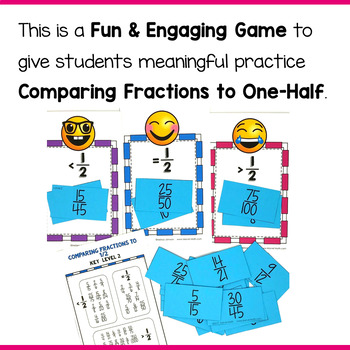 Comparing Fractions to One-Half (Benchmark Fractions) Game