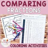 Comparing Fractions (unlike denominators) Coloring Activity