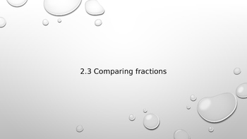 Comparing Fractions with 1 as the Numerator