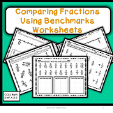 Comparing Fractions with Benchmarks Worksheets  CCSS Math