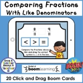 Boom Cards • Comparing Fractions with Like Denominators