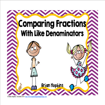 Comparing Fractions with Like Denominators Task Cards