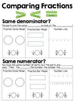 Comparing Fractions with Like Numerator OR Like Denominator