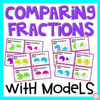 Comparing Fractions with Models Task Cards
