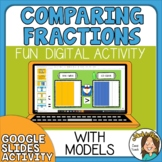 Earth Day Comparing Fractions with Models Google Slides Digital Activity