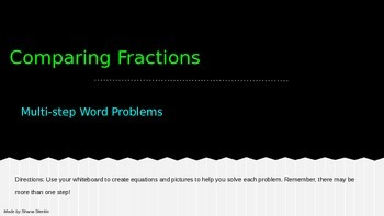 Comparing Fractions with Multi-step Word Problems