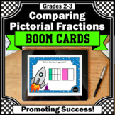 Comparing Fractions with Picture Models 3rd Grade Math BOOM Cards Digital