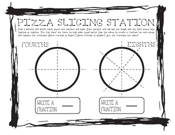 Comparing Fractions with Pizza #1
