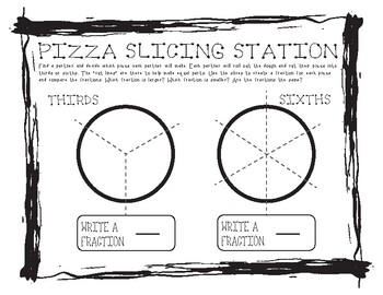 Comparing Fractions with Pizza #2
