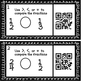 Comparing Fractions with QR Codes