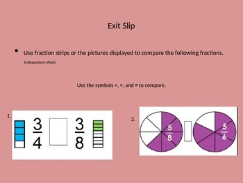 Comparing Fractions with Same Denominator and Numerator PPT