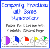Comparing Fractions with Same Numerator Power Point