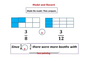 Comparing Fractions with Student Worksheet